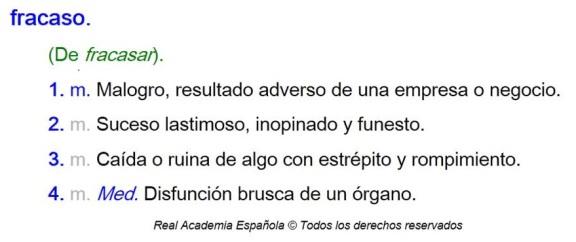 rae.es - fracaso
